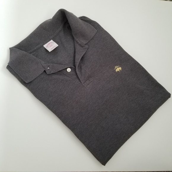 Brooks Brothers Other - Brooks Brothers Slim Fit Logo Gray Polo Shirt